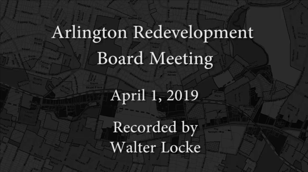 Redevelopment Board Meeting – April 1, 2019