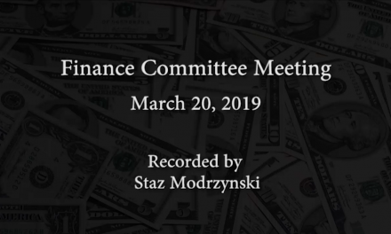 Finance Committee Meeting – March 20, 2019