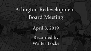 Redevelopment Board Meeting – April 8, 2019