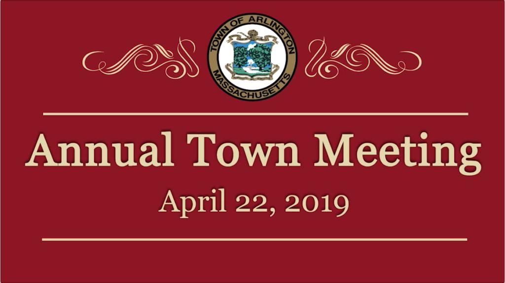 Town Meeting – April 22, 2019