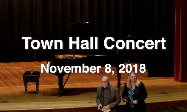 Town Hall Concert – November 8, 2018