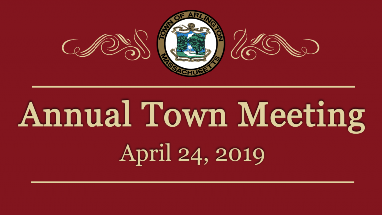 Annual Town Meeting – April 24, 2019