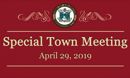 Special Town Meeting – April 29, 2019