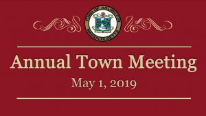 Annual Town Meeting – May 1, 2019
