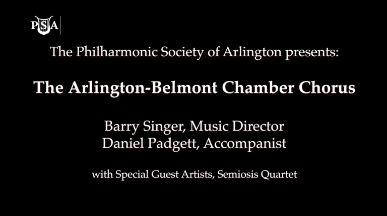 Arlington-Belmont Chamber Chorus – Music for a Spring Evening 2018