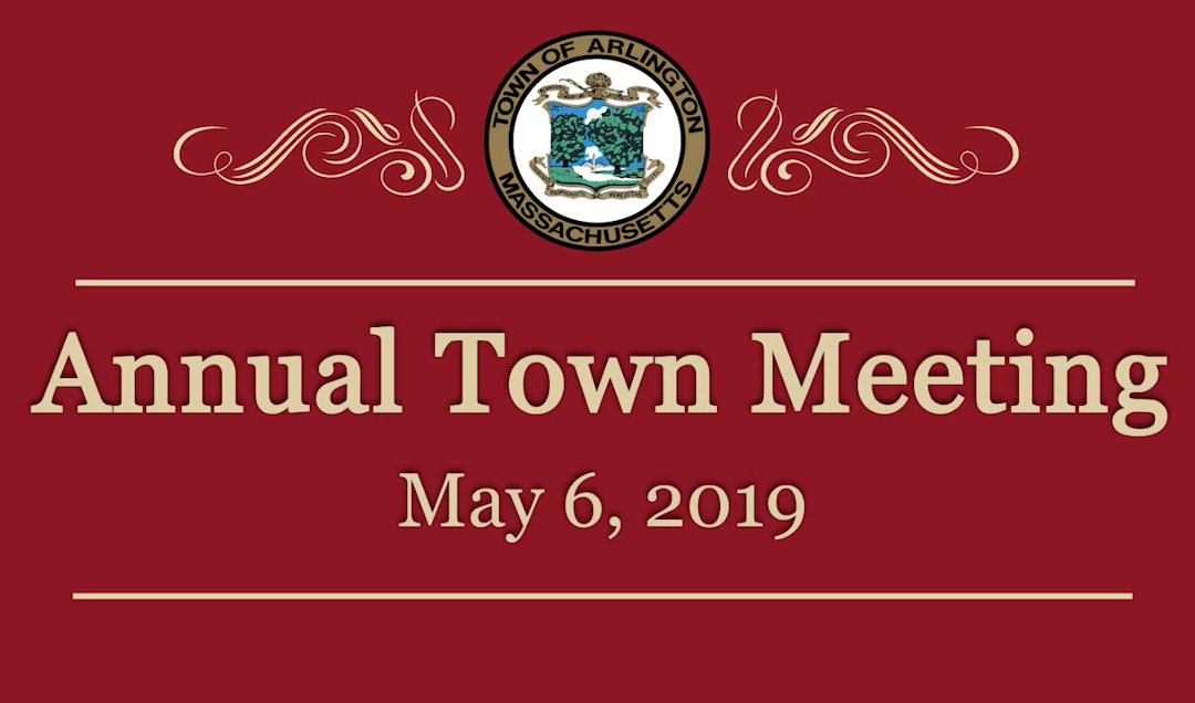 Annual Town Meeting – May 6, 2019