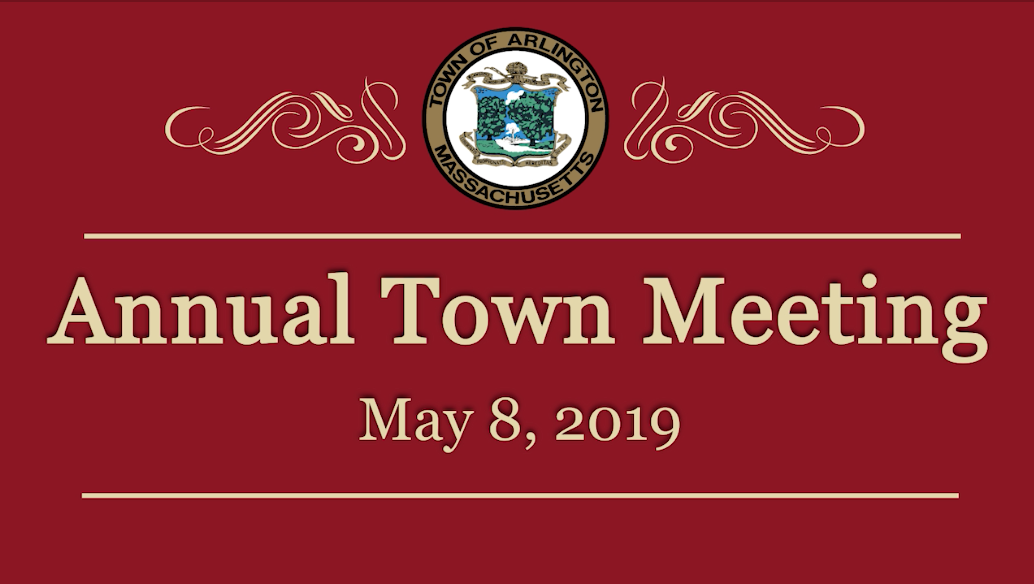 Annual Town Meeting – May 8, 2019