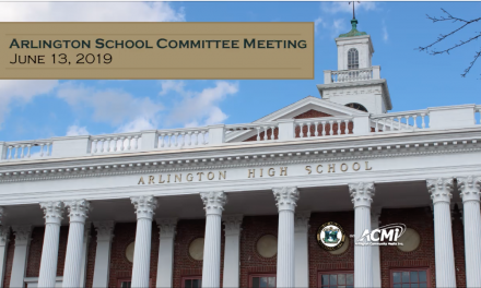 School Committee Meeting – June 13, 2019