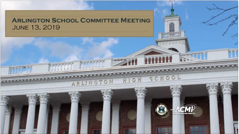 School Committee Meeting – June 13, 2019