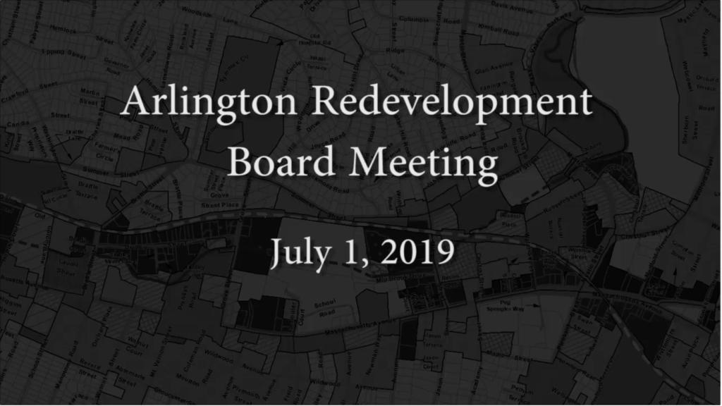 Redevelopment Board Meeting – July 1, 2019