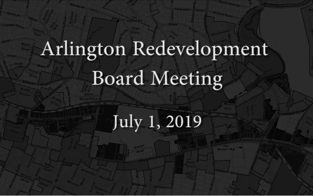 Redevelopment Board Meeting – July 1, 2019
