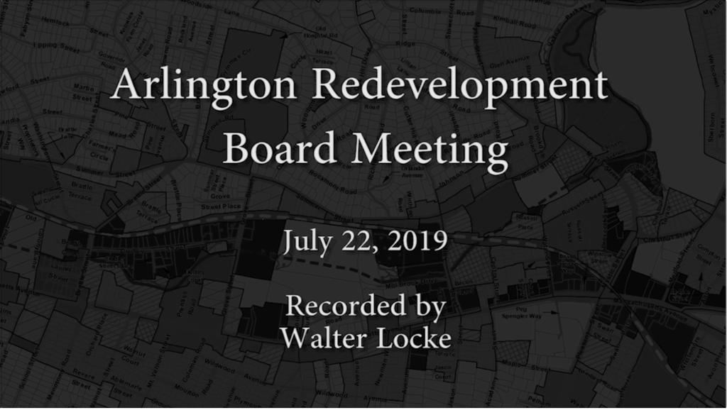 Redevelopment Board Meeting – July 22, 2019