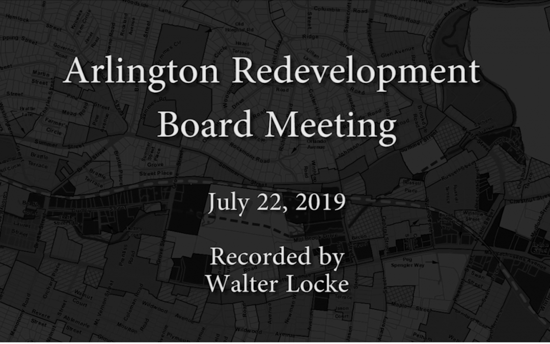 Redevelopment Board Meeting – July 22, 2019