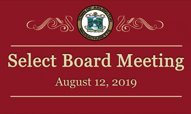 Select Board Meeting – August 12, 2019