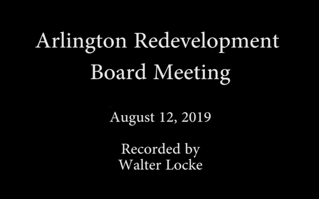 Redevelopment Board Meeting – August 12, 2019