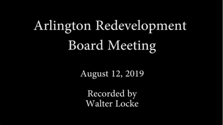 Redevelopment Board Meeting – August 12, 2019
