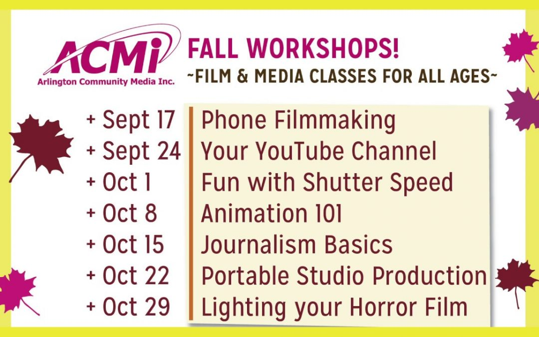 Fall Workshops Promo