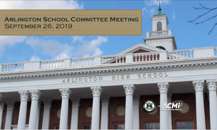 School Committee Meeting – September 26, 2019