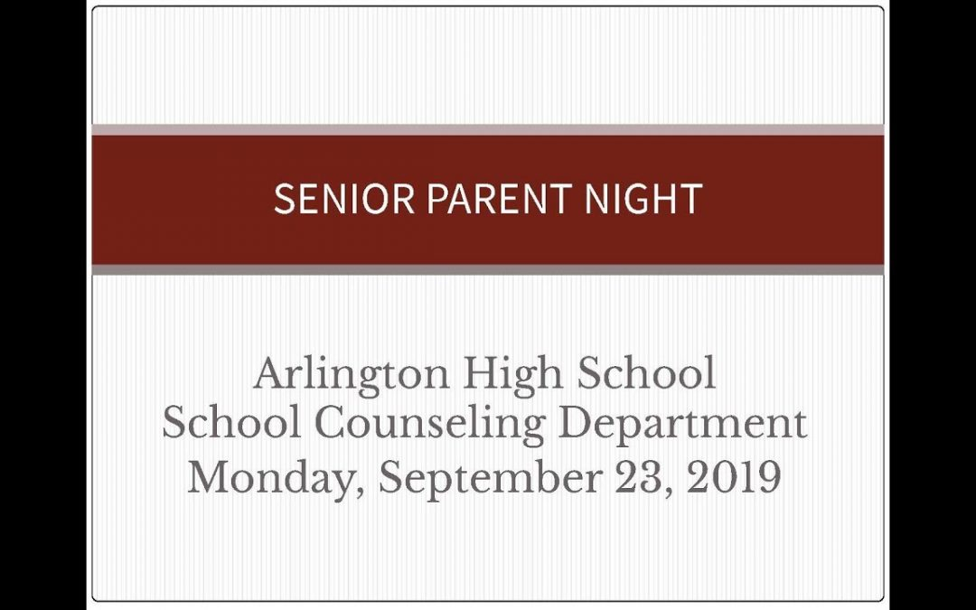 Senior Parent Night – Sept. 23, 2019