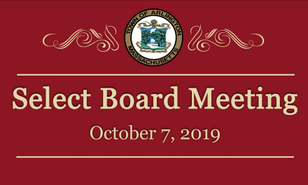 Select Board Meeting – October 7, 2019