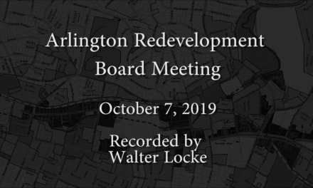 Redevelopment Board Meeting – October 7, 2019
