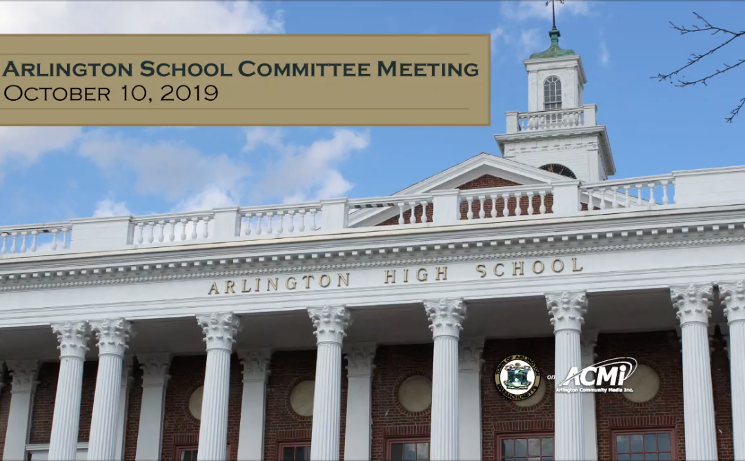 School Committee Meeting – October 10, 2019