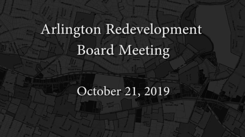 Redevelopment Board Meeting – October 21, 2019