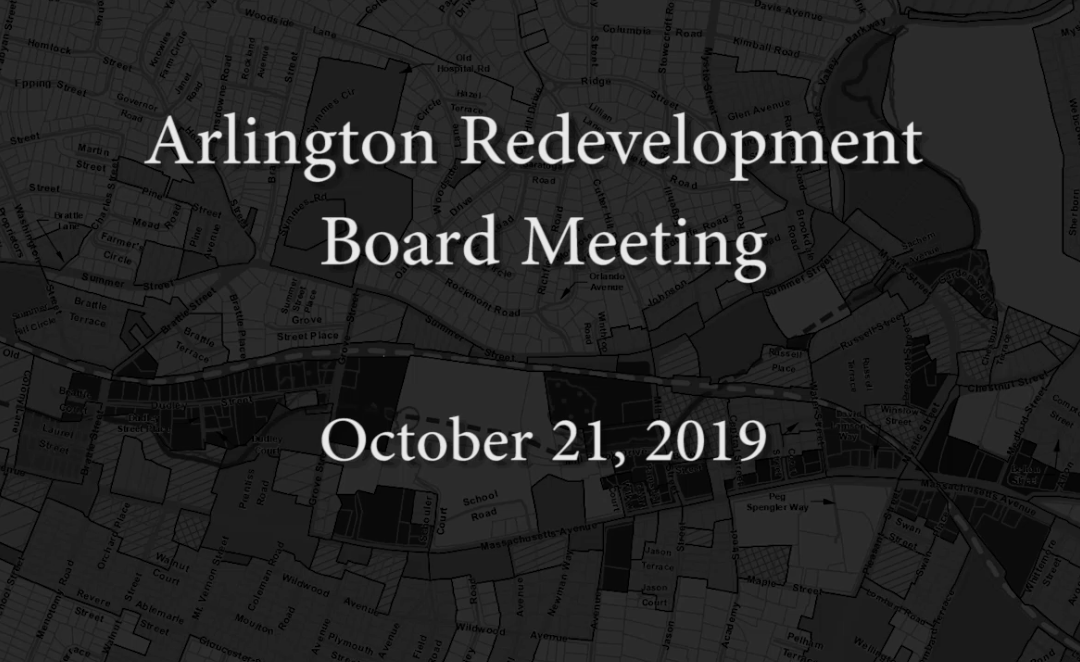 Redevelopment Board Meeting – October 21, 2019