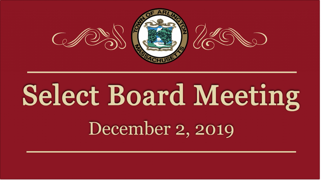 Select Board Meeting – December 2, 2019