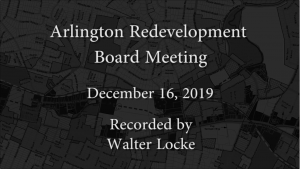 Redevelopment Board Meeting – December 16, 2019