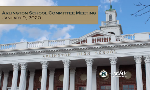 School Committee Meeting – January 9, 2020