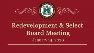 Redevelopment & Select Board Meeting – January 14, 2020