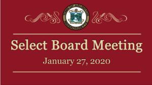Select Board Meeting – January 27, 2020