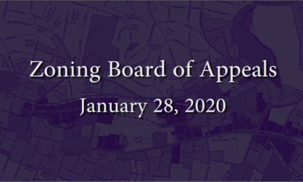 Zoning Board of Appeals – January 28, 2020