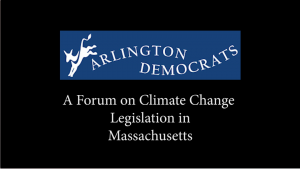 Climate Change Legislative Forum – January 14, 2020