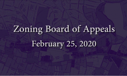 Zoning Board of Appeals – February 25, 2020
