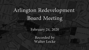 Redevelopment Board Meeting – February 24, 2020