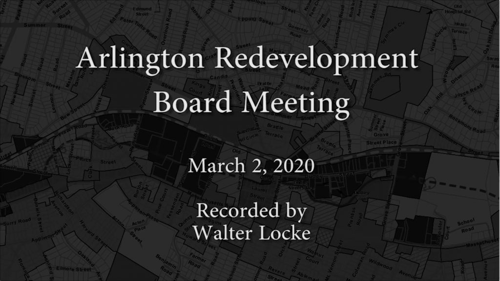 Redevelopment Board Meeting – March 2, 2020