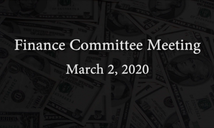 Finance Committee Meeting – March 2, 2020