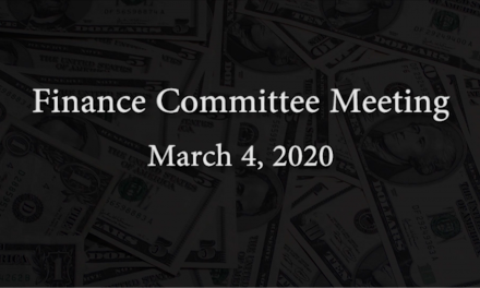 Finance Committee Meeting – March 4, 2020