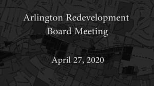 Redevelopment Board Meeting – April 27, 2020