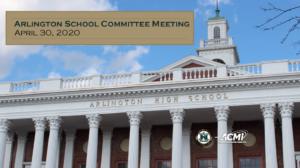 School Committee Meeting – April 30, 2020