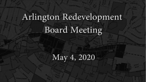 Redevelopment Board Meeting – May 4, 2020