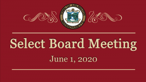 Select Board Meeting – June 1, 2020