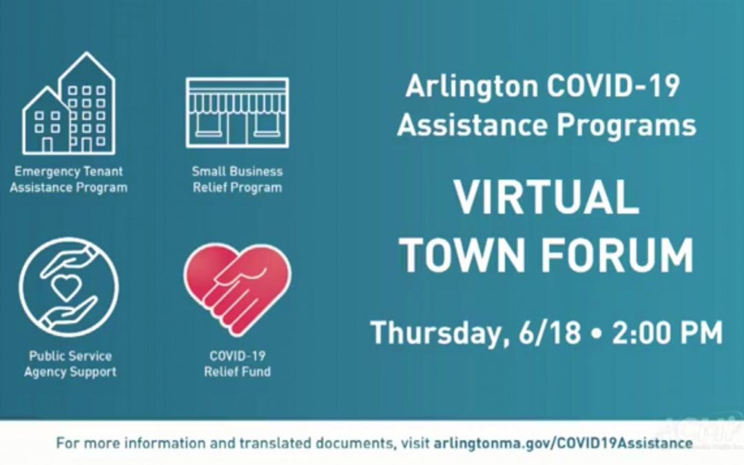 Virtual Town Hall: COVID-19 Financial Assistance – June 18, 2020