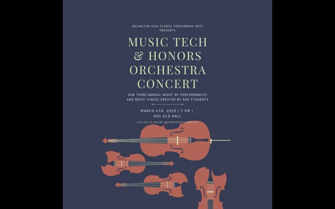 Music Technology and Honors Orchestra Concert – March 4, 2020