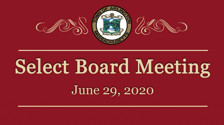 Select Board Meeting – June 29, 2020