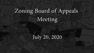 Redevelopment Board Meeting – June 20, 2020