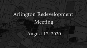 Redevelopment Board Meeting – August 17, 2020