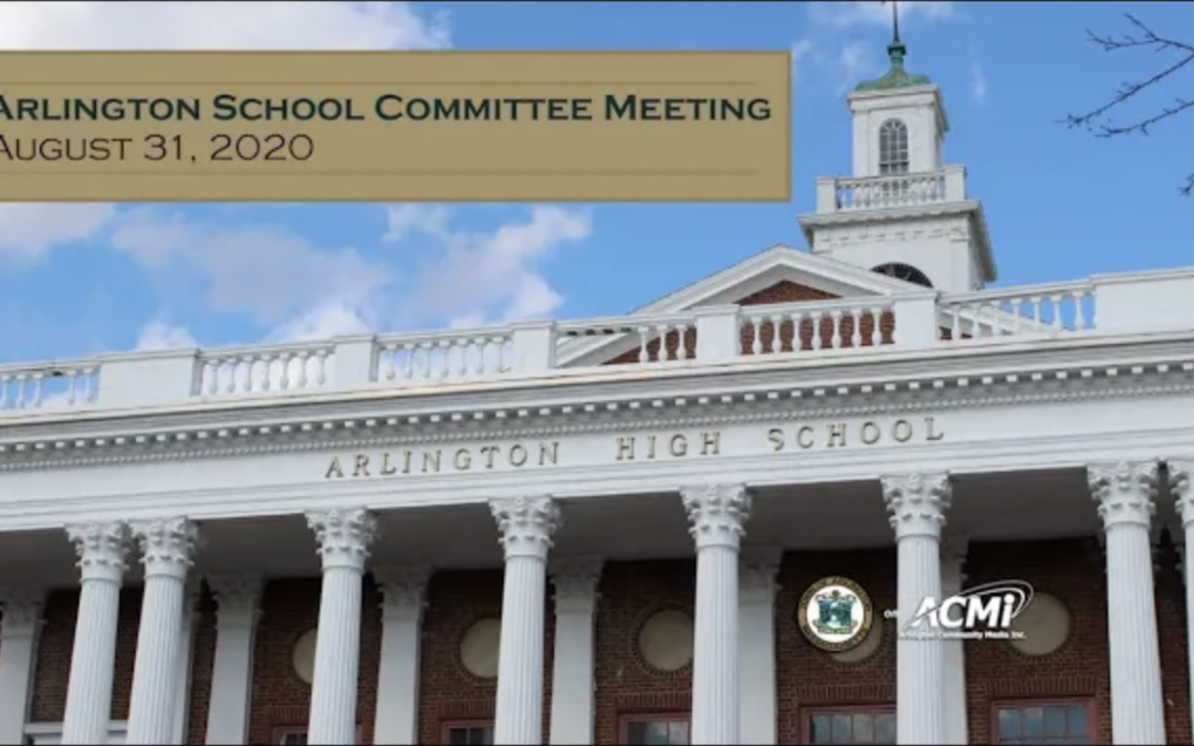 School Committee Meeting – August 31, 2020